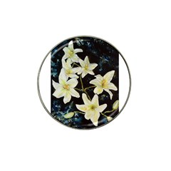 Bright Lilies Hat Clip Ball Marker by timelessartoncanvas