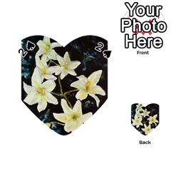 Bright Lilies Playing Cards 54 (heart)