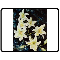 Bright Lilies Double Sided Fleece Blanket (large)  by timelessartoncanvas