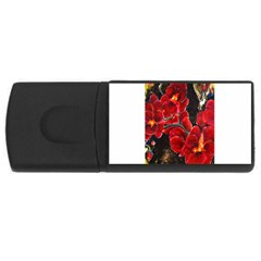 Red Orchids Usb Flash Drive Rectangular (4 Gb)  by timelessartoncanvas