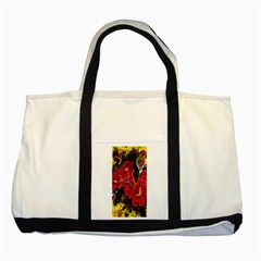 Red Orchids Two Tone Tote Bag  by timelessartoncanvas