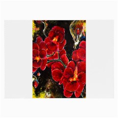 Red Orchids Large Glasses Cloth (2 Side) by timelessartoncanvas