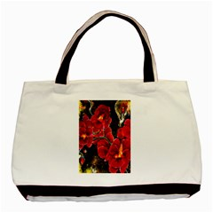Red Orchids Basic Tote Bag (two Sides)  by timelessartoncanvas