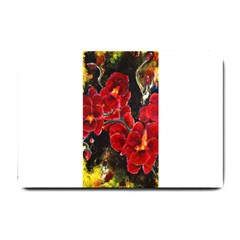 Red Orchids Small Doormat  by timelessartoncanvas