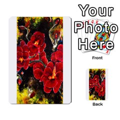 Red Orchids Multi Purpose Cards (rectangle)  by timelessartoncanvas