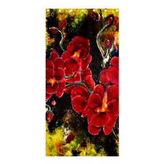 Red Orchids Shower Curtain 36  X 72  (stall)  by timelessartoncanvas