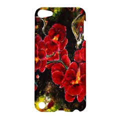 Red Orchids Apple Ipod Touch 5 Hardshell Case by timelessartoncanvas