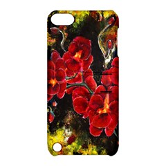 Red Orchids Apple Ipod Touch 5 Hardshell Case With Stand by timelessartoncanvas
