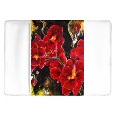 Red Orchids Samsung Galaxy Tab 10 1  P7500 Flip Case by timelessartoncanvas