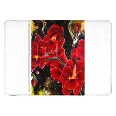 Red Orchids Samsung Galaxy Tab 8 9  P7300 Flip Case by timelessartoncanvas