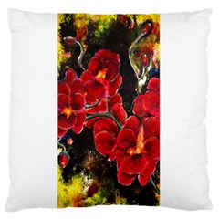 Red Orchids Standard Flano Cushion Cases (one Side)