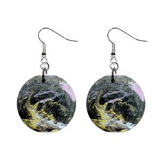 Black Ice Mini Button Earrings