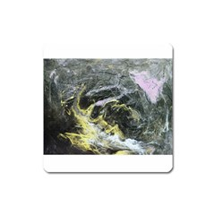 Black Ice Square Magnet by timelessartoncanvas