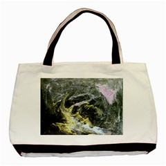 Black Ice Basic Tote Bag  by timelessartoncanvas