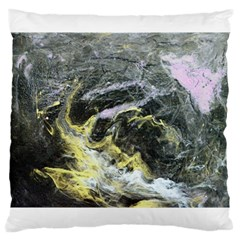 Black Ice Large Cushion Cases (one Side)  by timelessartoncanvas