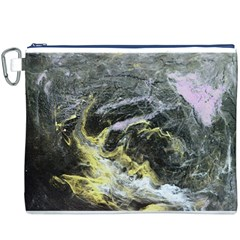 Black Ice Canvas Cosmetic Bag (XXXL)  by timelessartoncanvas