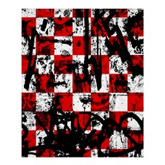 Emo Checker Graffiti Shower Curtain 60  X 72  (medium)  by ArtistRoseanneJones