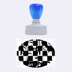 Emo Checker Graffiti Rubber Oval Stamps