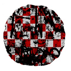 Emo Checker Graffiti Large 18  Premium Flano Round Cushions by ArtistRoseanneJones
