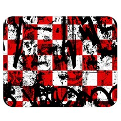 Emo Checker Graffiti Double Sided Flano Blanket (medium)  by ArtistRoseanneJones