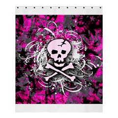 Pink Skull Splatter Shower Curtain 60  X 72  (medium)  by ArtistRoseanneJones