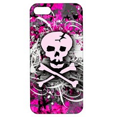 Pink Skull Splatter Apple Iphone 5 Hardshell Case With Stand by ArtistRoseanneJones