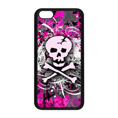Pink Skull Splatter Apple Iphone 5c Seamless Case (black) by ArtistRoseanneJones