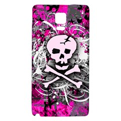 Pink Skull Splatter Galaxy Note 4 Back Case by ArtistRoseanneJones