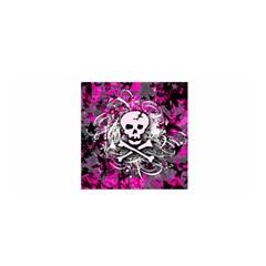 Pink Skull Splatter Satin Wrap