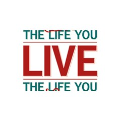 Love The Life You Live You Are Invited 3d Greeting Card (8x4)  by theimagezone