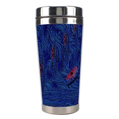 Blue Sphere Stainless Steel Travel Tumblers by InsanityExpressed