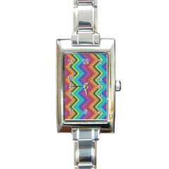 Aztec 3 Rectangle Italian Charm Watches by theimagezone
