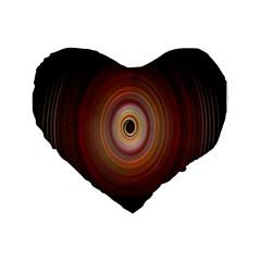 Colour Twirl Standard 16  Premium Flano Heart Shape Cushions by InsanityExpressed