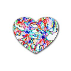 Soul Colour Light Rubber Coaster (heart)  by InsanityExpressed