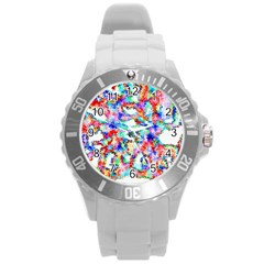 Soul Colour Light Round Plastic Sport Watch (l) by InsanityExpressed