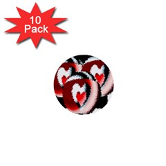 Heart Time 3 1  Mini Buttons (10 Pack)  by InsanityExpressed