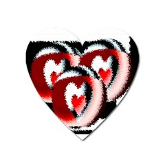 Heart Time 3 Heart Magnet by InsanityExpressed