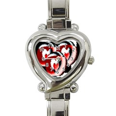 Heart Time 3 Heart Italian Charm Watch by InsanityExpressed