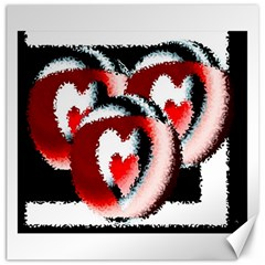 Heart Time 3 Canvas 20  x 20   by InsanityExpressed