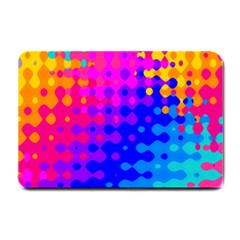 Totally Trippy Hippy Rainbow Small Doormat  by KirstenStar
