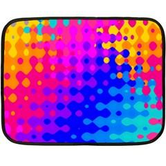 Totally Trippy Hippy Rainbow Double Sided Fleece Blanket (mini)  by KirstenStar