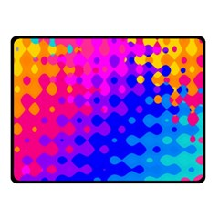 Totally Trippy Hippy Rainbow Fleece Blanket (small) by KirstenStar