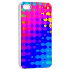 Totally Trippy Hippy Rainbow Apple Iphone 4/4s Seamless Case (white) by KirstenStar