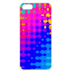 Totally Trippy Hippy Rainbow Apple Iphone 5 Seamless Case (white) by KirstenStar