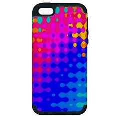 Totally Trippy Hippy Rainbow Apple Iphone 5 Hardshell Case (pc+silicone) by KirstenStar