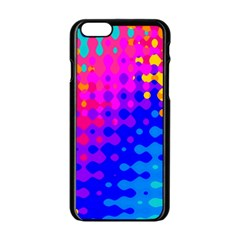 Totally Trippy Hippy Rainbow Apple Iphone 6 Black Enamel Case by KirstenStar