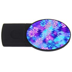 Blue And Purple Marble Waves Usb Flash Drive Oval (2 Gb)  by KirstenStar