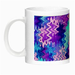 Blue And Purple Marble Waves Night Luminous Mugs by KirstenStar
