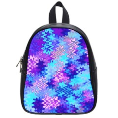 Blue And Purple Marble Waves School Bags (small)  by KirstenStar