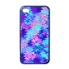 Blue And Purple Marble Waves Apple Iphone 4 Case (black) by KirstenStar